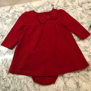 Red baby gap dress